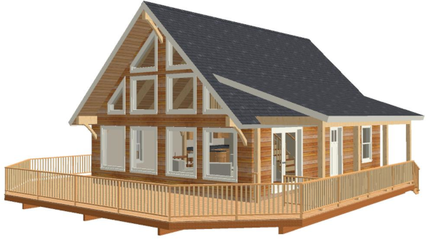 Peachy The Mont Vernon Home Building Kits Home Interior And Landscaping Elinuenasavecom